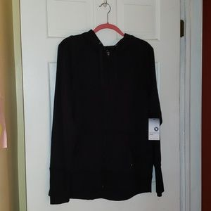 Xersion Black Hoodie with thumb holes, NWT!